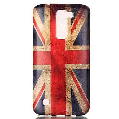 Case Kompatibilitás LG K8 LG LG K4 LG tok Minta Fekete tok Zászló Puha TPU mert