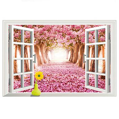풍경 벽 스티커 플레인 월스티커 / 3D 월 스티커 데코레이티브 월 스티커,PVC 자료 이동가능 홈 장식 벽 데칼