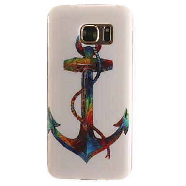 Недорогие Чехлы и кейсы для Galaxy S4 Mini-Кейс для Назначение SSamsung Galaxy S7 edge / S7 / S6 edge С узором Кейс на заднюю панель анкер Мягкий ТПУ