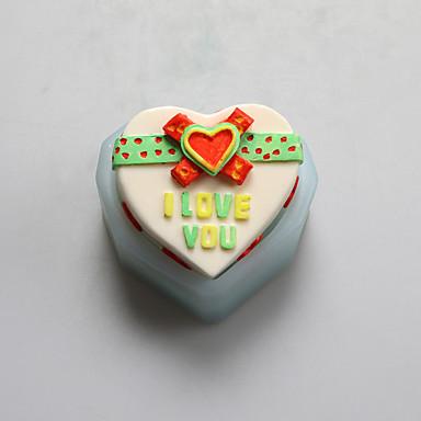 szerelmes szív csokoládé szilikon öntőforma, sütemény formák, szappan öntőformák, dekorációs szerszám bakeware