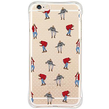 Mert iPhone 6 tok / iPhone 6 Plus tok Ütésálló / Átlátszó Case Hátlap Case Csempe Puha TPU AppleiPhone 6s Plus/6 Plus / iPhone 6s/6 /