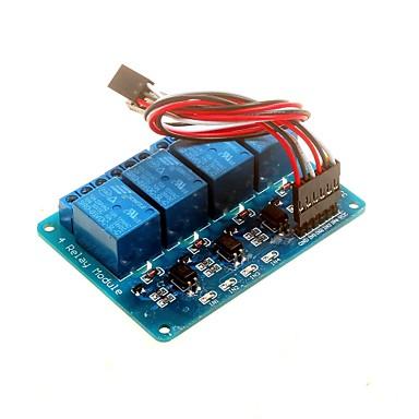 Χαμηλού Κόστους Ρελέ-μονάδα ρελέ 5v 4 καναλιών με optocoupler DSP avr pic βραχίονα για Arduino