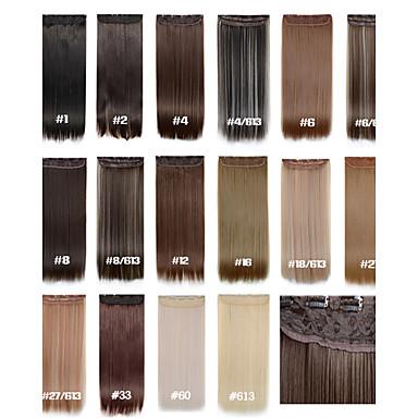 22 hüvelyk Szintetikus haj Póthaj Egyenes Klasszikus Be/Rácsíptethető Napi Jó minőség Női