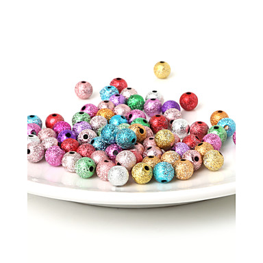 billige Perler og smykkemaking-DIY Smykker 29g(aprx.100pcs) Gull Sølv Regnbue Perlene DIY Halskjeder Armbånd