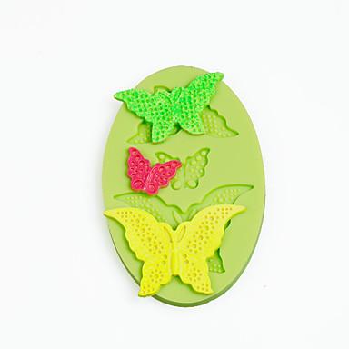 csipke pillangók szilikon formája csokoládé polimer agyag cukorkaeszközök színes véletlenszerű