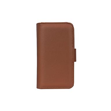 Недорогие Чехлы и кейсы для Galaxy S6-Кейс для Назначение SSamsung Galaxy S6 edge / S6 / S5 Кошелек / Бумажник для карт / со стендом Чехол Сплошной цвет Кожа PU