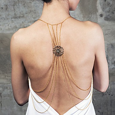 Női Testékszer Deréklánc kábelköteg nyaklánc Body Lánc / Belly Chain Arannyal bevont Aranyozott Luxus Szexi Többrétegű Divat Crossover