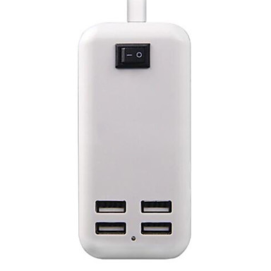 UK dugasz Telefon USB töltő Multi port cm Outlets 4 USB port 2.1A 2A 1A 0.5A AC 100V-240V
