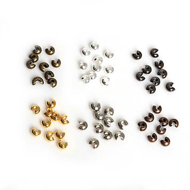 beadia 100db 3mm vas krimp gyöngyöket terjed távtartó gyöngyök ékszerek megállapítások tartozék