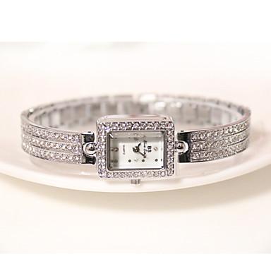 여성용 손목 시계 팔찌 시계 페이브 시계 석영 캐쥬얼 시계 모조 다이아몬드 합금 밴드 스파클 참 우아한 실버