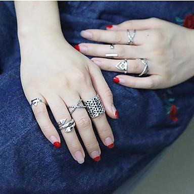 Gyűrűk Divat Napi / Hétköznapi Ékszerek Női Midi gyűrűk 1set,7 Ezüst