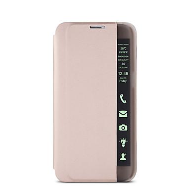 풀 바디 먼지방지 / 스탠드 / 윈도우와 / 자동 재우기/깨우기 / 튀기다 / 울트라-씬 Other 인조 가죽 하드High Quality Smart Sleep Flip Stand Leather Case/LED Light Display Window