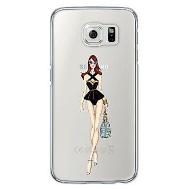 제품 케이스 커버 울트라 씬 뒷면 커버 케이스 섹시 레이디 소프트 TPU 용 Samsung S6 S5 S4