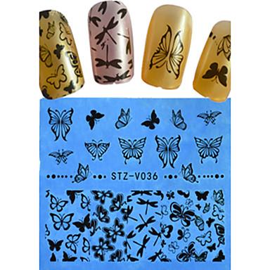 1 Nail Art matrica Körömfestés tippek Virág Rajzfilmfigura Szeretetreméltő Esküvő smink Kozmetika Nail Art Design