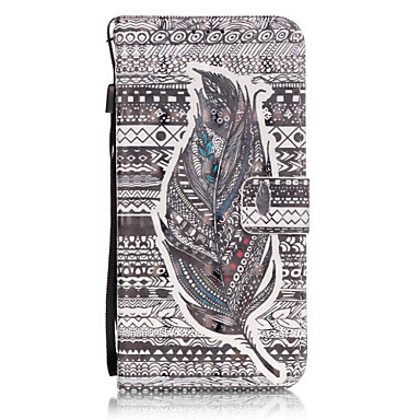 용 Samsung Galaxy S7 Edge 카드 홀더 / 지갑 / 스탠드 / 플립 / 패턴 케이스 풀 바디 케이스 깃털 하드 인조 가죽 Samsung S7 edge / S7 / S6 edge plus / S6 edge / S6 / S5 / S4