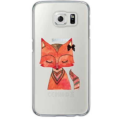 용 Samsung Galaxy S7 Edge 투명 / 패턴 케이스 뒷면 커버 케이스 동물 소프트 TPU Samsung S7 edge / S7 / S6 edge plus / S6 edge / S6 / S5 / S4