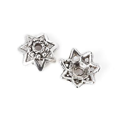 beadia 36pcs antik ezüst ötvözet gyöngyök sapka 10x4mm virág alakú távtartó gyöngyök