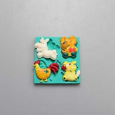 동물 초콜릿 실리콘 몰드, 케이크 금형, 비누 몰드, 장식 도구 내열 접시 모양