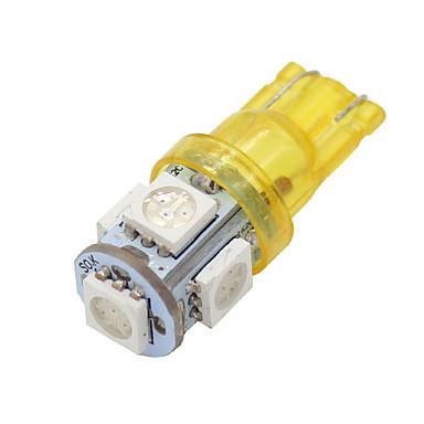 4x t10 168 âmbar amarelo de alta potência chip de 5050 5 interior levou lâmpadas de luz W5W 194