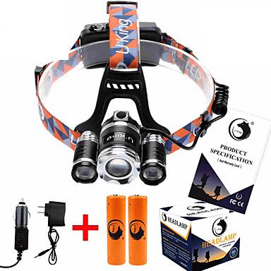 U'King ZQ-X825 헤드램프 헤드라이트 LED 8500ML lm 4.0 모드 Cree XM-L T6 조절가능한 초점 충전식 줌이 가능한 컴팩트 사이즈 높은 전력 휴대성 충전기 포함 캠핑/등산/동굴탐험 사냥 등산 야외 낚시 여행 멀티기능