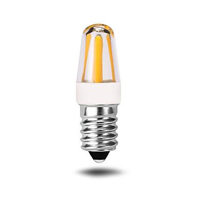 4W E14 LED Bi-pin 조명 T 4 COB 350-380 lm 따뜻한 화이트 장식 AC 220-240 V 1개
