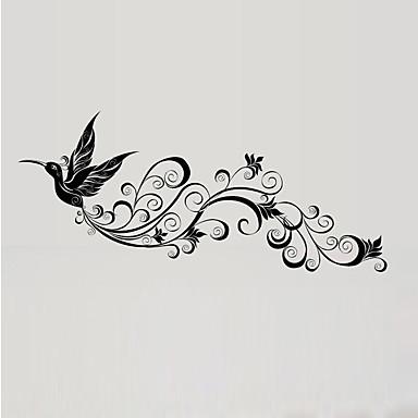 애니멀 벽 스티커 플레인 월스티커 데코레이티브 월 스티커 자료 물 세탁 가능 이동가능 재부착가능 홈 장식 벽 데칼