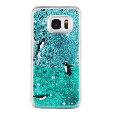Case Kompatibilitás Samsung Galaxy Samsung Galaxy S7 Edge Folyékony Átlátszó Minta Hátlap Állat Kemény PC mert S7 edge S7
