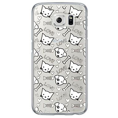 용 Samsung Galaxy S7 Edge 울트라 씬 / 반투명 케이스 뒷면 커버 케이스 고양이 소프트 TPU Samsung S7 edge / S7 / S6 edge plus / S6 edge / S6 / S5 / S4