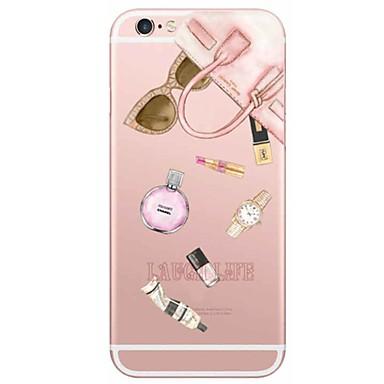 Kompatibilitás iPhone 6 tok iPhone 6 Plus tok tokok Ultra-vékeny Áttetsző Hátlap Case Szexi lány Puha Hőre lágyuló poliuretán mert Apple