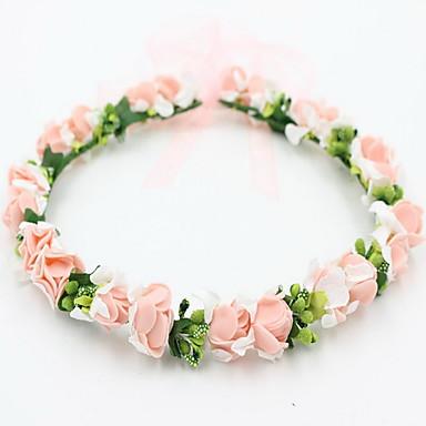 아름다운 여자 결혼식 파티 휴가 머리 보석 꽃 화환 헤드 밴드 장미