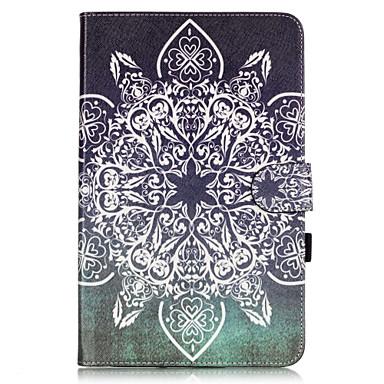 케이스 제품 Samsung Galaxy 탭 9.7 삼성 갤럭시 케이스 카드 홀더 지갑 스탠드 플립 패턴 전체 바디 케이스 만다라 소프트 PU 가죽 용 Tab E 9.6