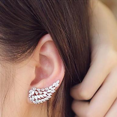 여성 사치 패션 지르콘 모조 큐빅 모조 다이아몬드 윙 보석류 제품 일상 캐쥬얼
