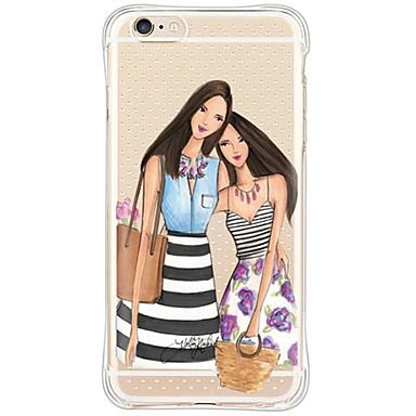 Mert iPhone 6 tok / iPhone 6 Plus tok Vízálló / Ütésálló / Porálló / Átlátszó Case Hátlap Case Szexi lány Puha TPU AppleiPhone 6s Plus/6