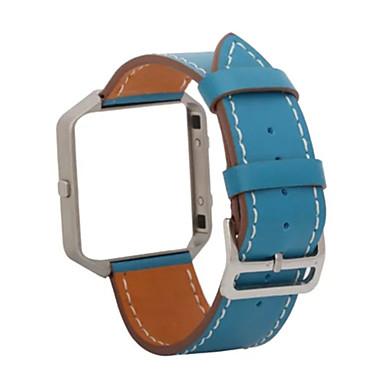 블랙 / 블루 / 브라운 가죽 클래식 버클 용 핏빗 손목 시계 23mm