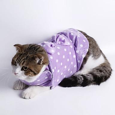 Macskák Kutyák Pulóver Pizsamák Kutyaruházat Tél Tavasz/Ősz Pöttyös Aranyos Casual/hétköznapi Szürke Bíbor Zöld Kék Rózsaszín