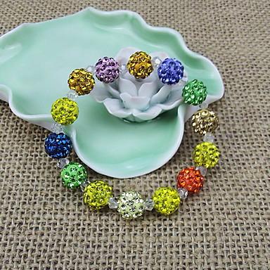 여성 물가 팔찌 패션 비즈 고급 보석 유럽의 라인석 모조 다이아몬드 Round Shape 보석류 제품 일상 캐쥬얼