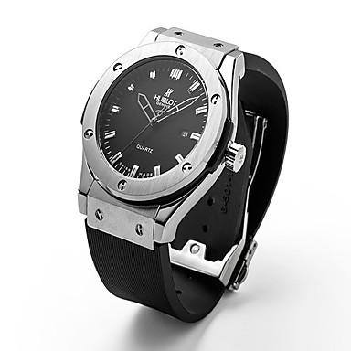 billige Herreure-Dame Par Unisex Modeur Armbåndsur Quartz Gummi Sort 30 m / Analog Afslappet - Sort Sølv Rose Guld