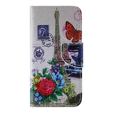 Mert iPhone 6 tok / iPhone 6 Plus tok Pénztárca / Kártyatartó / Állvánnyal Case Teljes védelem Case Eiffel torony Kemény Műbőr Apple