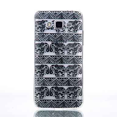 백 비스크 / 패턴 한색상 TPU 소프트 Transparent 케이스 커버를 들어 Samsung Galaxy J7 (2016) / J5 (2016) / J5 / J3 (2016) / Grand Prime / Core Prime