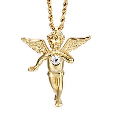 billige Mode Halskæde-Herre Halskædevedhæng Mode 18K Guldbelagt Rustfrit Stål Guldbelagt Gylden Halskæder Smykker Til Daglig Afslappet
