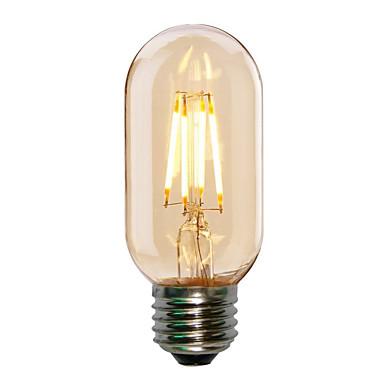 HRY 1szt 4W 360lm E26 / E27 Żarówka dekoracyjna LED T45 4 Koraliki LED COB Dekoracyjna Ciepła biel Zimna biel 220-240V