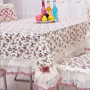 Négyzet Virágos Asztalterítők , 100% Pamut Anyag Hotel étkezőasztal