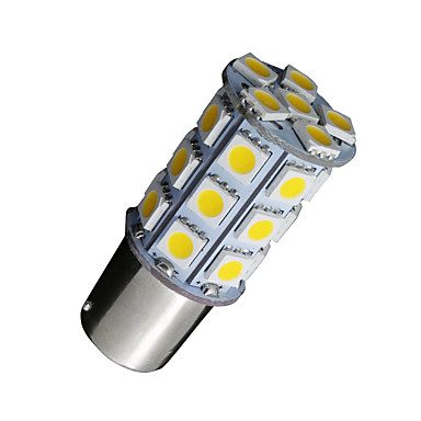 10x warm wit 1156 BA15s 27SMD 5050 LED verlichting rv camper auto back-up 7506