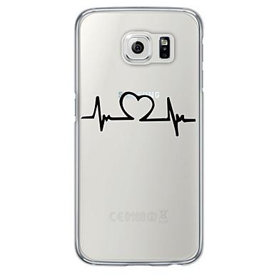 용 Samsung Galaxy S7 Edge 울트라 씬 / 반투명 케이스 뒷면 커버 케이스 심장 소프트 TPU Samsung S7 edge / S7 / S6 edge plus / S6 edge / S6 / S5 / S4