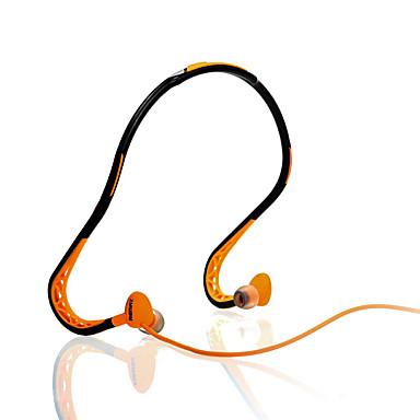 Remax RM-S15 귀에 목 밴드 유선 헤드폰 동적 스포츠 및 피트니스 이어폰 소음 차단 마이크 포함 헤드폰