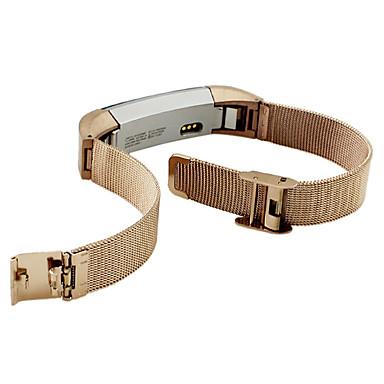 블랙 / 골드 / 실버 스테인레스 스틸 / 메탈 밀라노 루프 용 핏빗 손목 시계 10mm