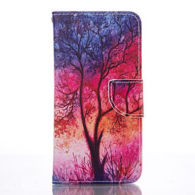 Kılıf Na Samsung Galaxy Samsung Galaxy S7 Edge Etui na karty Portfel Z podpórką Pełne etui Drzewo Miękkie Skóra PU na S7 edge S6 S5 Mini