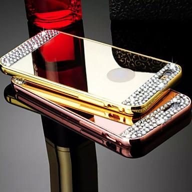 hoesje Voor iPhone 5 hoesje Strass Beplating Spiegel Achterkantje Effen Kleur Hard Metaal voor iPhone SE/5s iPhone 5