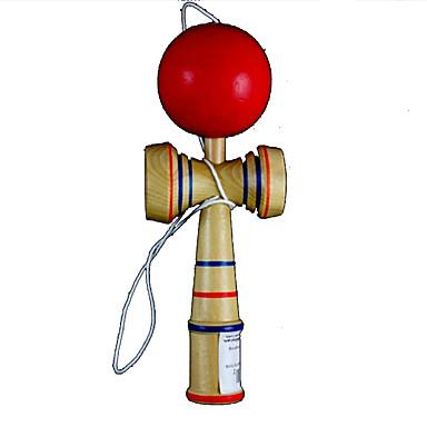 brinquedo aftertaste clássico Kendama jogo de puzzle - madeira + vermelho