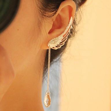 여성용 드랍 귀걸이 크리스탈 패션 유럽의 합금 U 자형 윙 보석류 일상 캐쥬얼 의상 보석